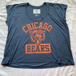 Chicago Bear Navy Heather Top Short Sleeve Small